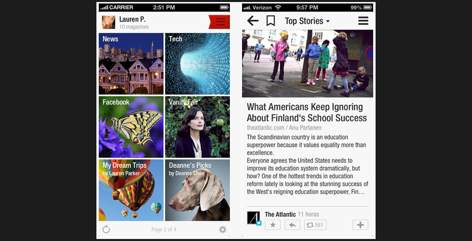 People's Voice / Webby Award Winner - Flipboard