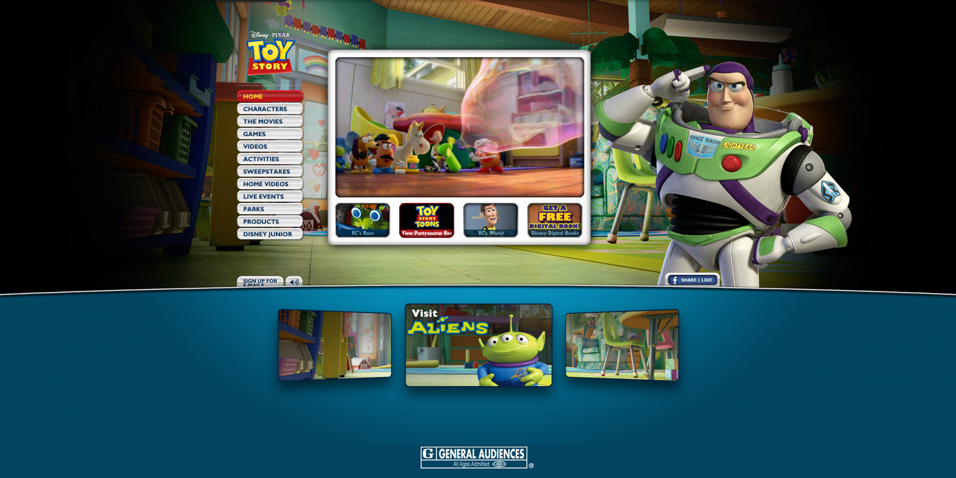 2011 Webby Winner - Toy Story Official Web Site