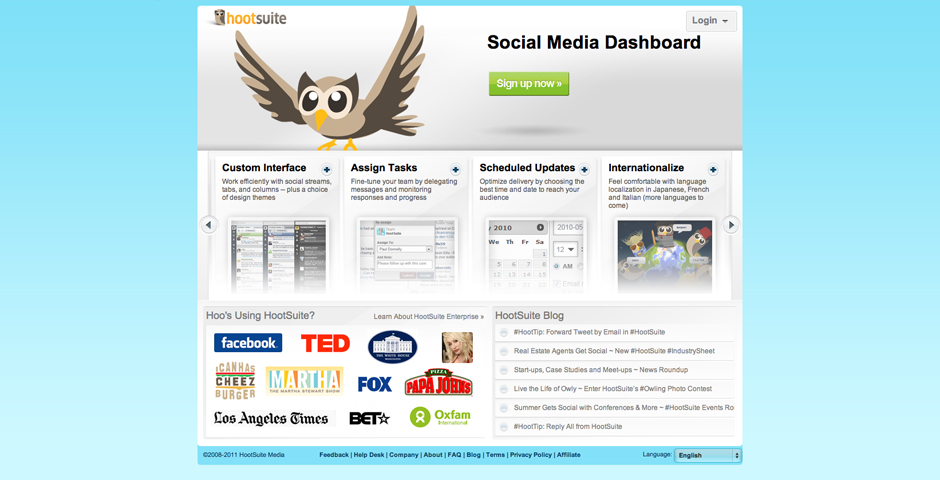 Nominee - HootSuite Social Media Dashboard