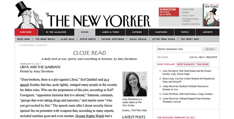 Nominee - Close Read on newyorker.com