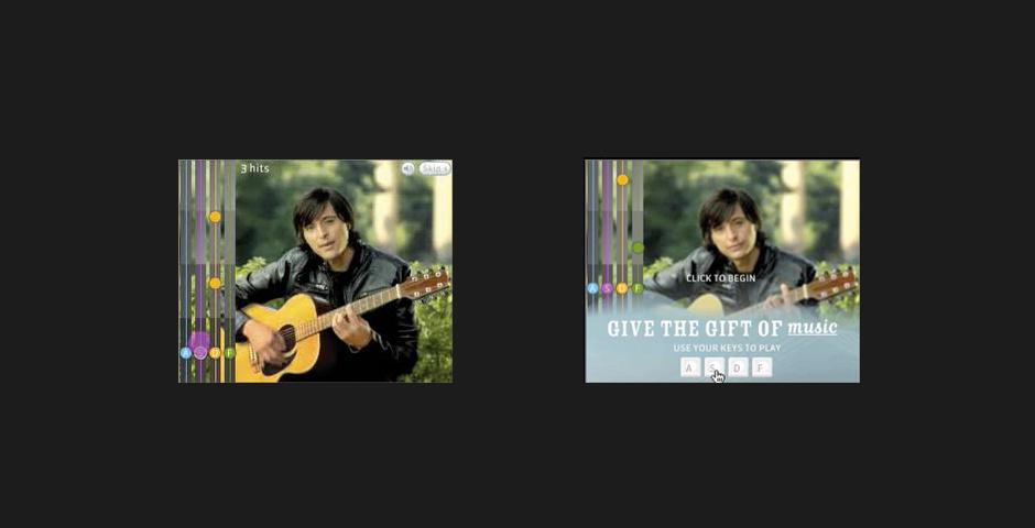 Webby Award Nominee - Valentines Day Guitar Banner