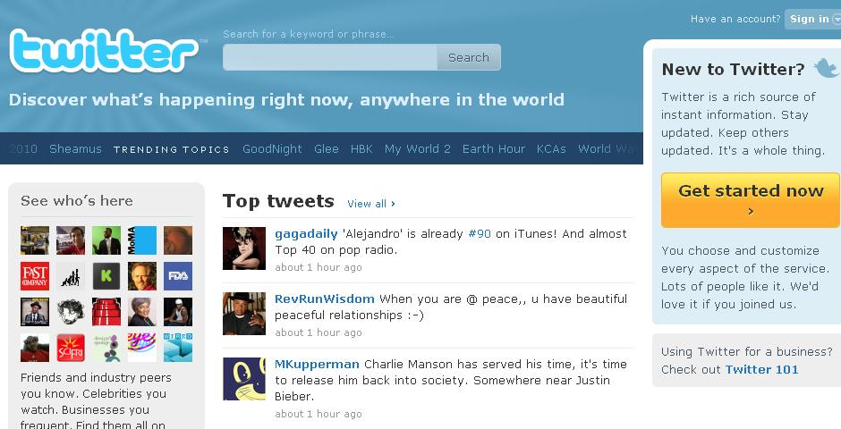 2010 Webby Winner - Twitter