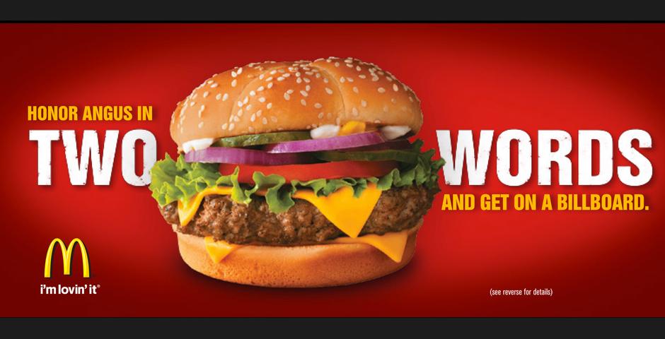 People's Voice - McDonald's – Honor Angus