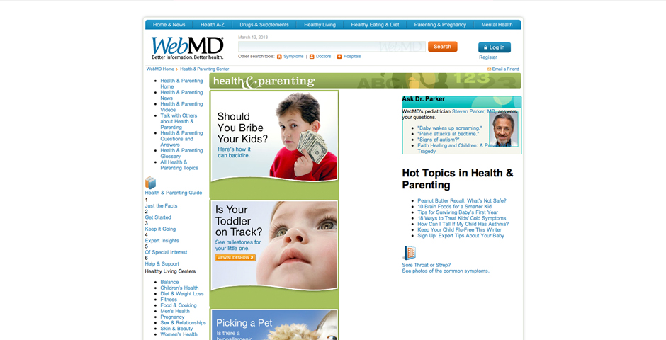 Nominee - WebMD Parenting Channel