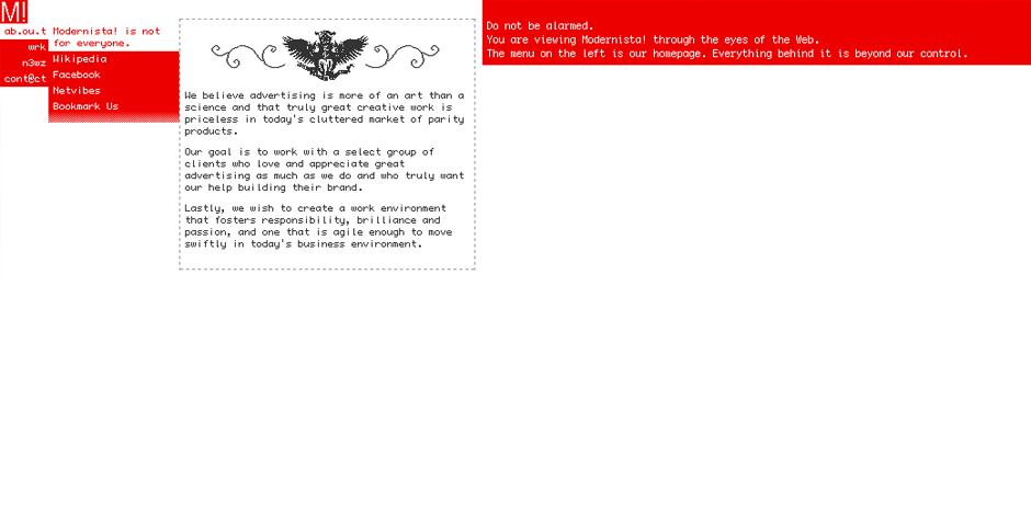 Nominee - Modernista! Website