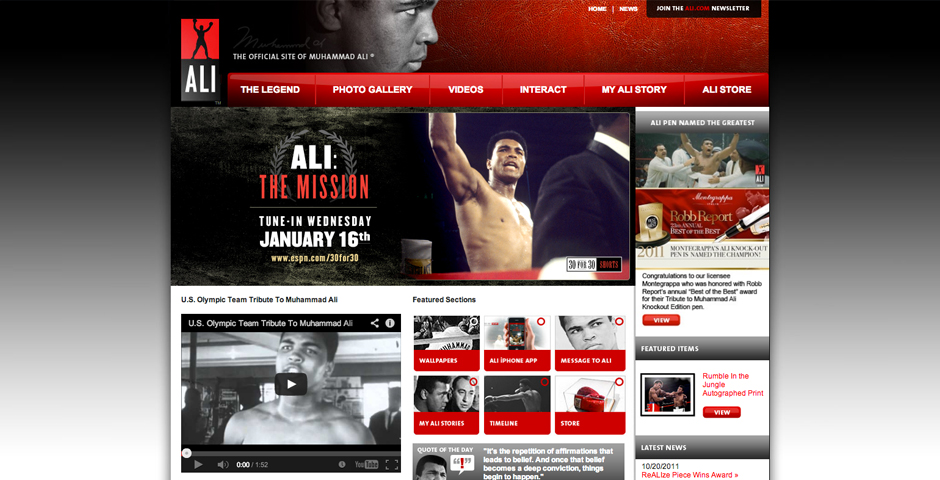 - Muhammad Ali Web Site