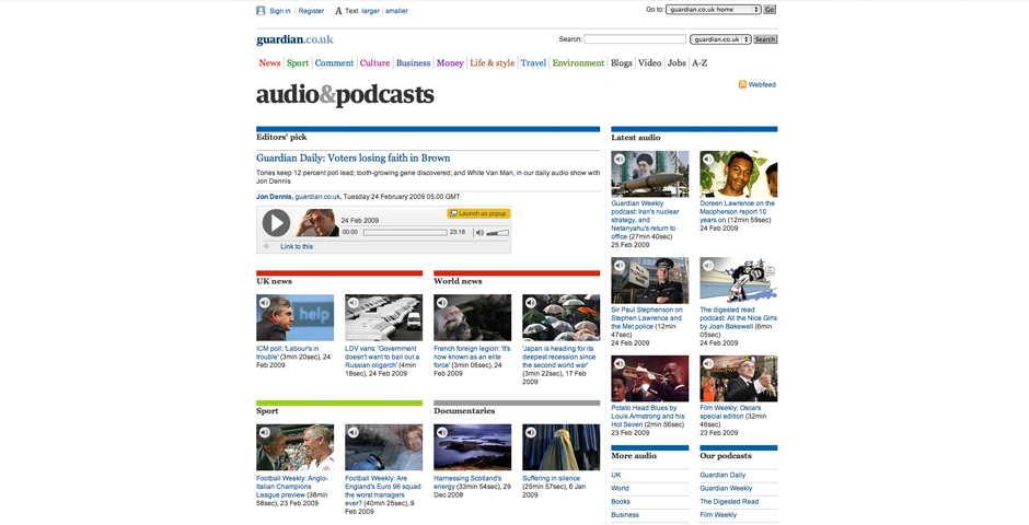 Webby Award Winner - guardian.co.uk podcasts