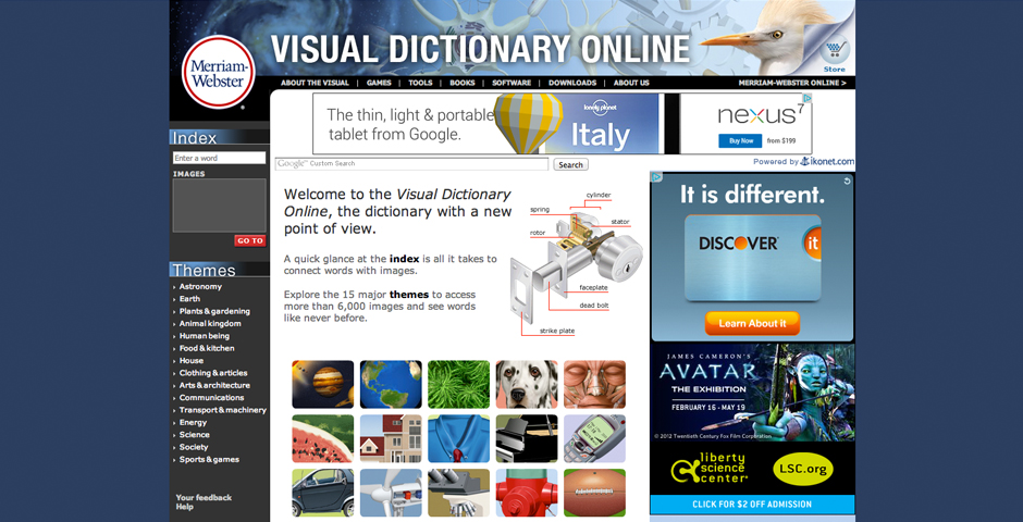 Nominee - The Visual Dictionary Online