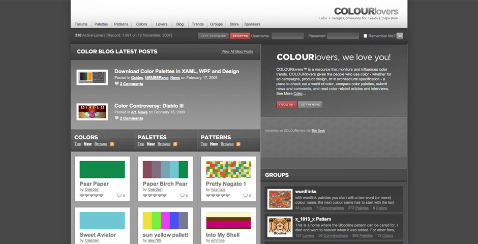 Webby Award Nominee - Color + Design Community for Creative Inspiration