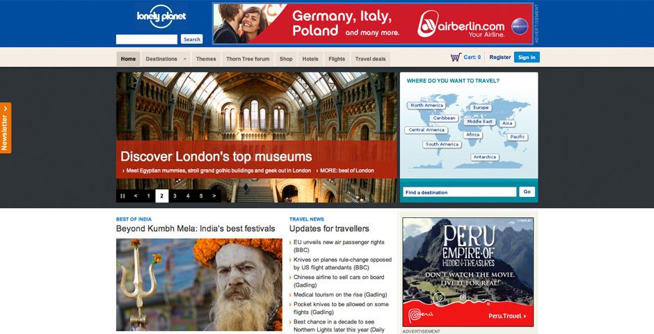 2009 Webby Winner - Lonely Planet