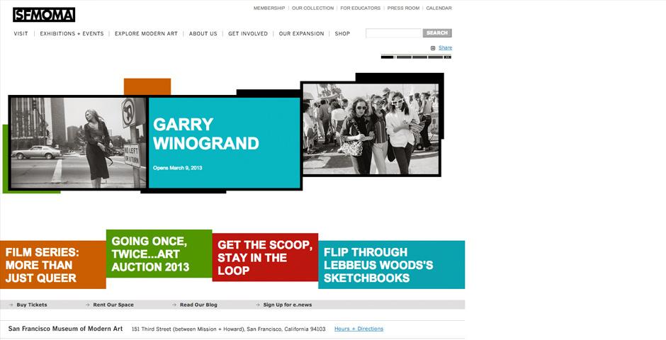Webby Award Nominee - SF Moma new website design
