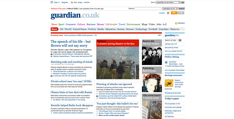 Webby Award Winner - guardian.co.uk