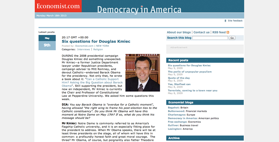 Honoree - Democracy in America Blog
