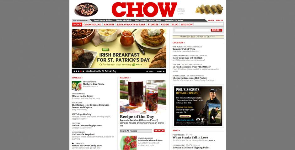 Webby Award Nominee - CHOW