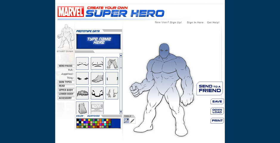 "Nominee - Marvel ""Create Your Own Superhero"""