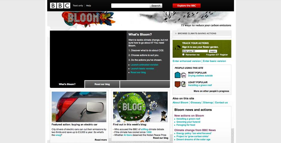 2009 Webby Winner - BBC Climate Change: Bloom