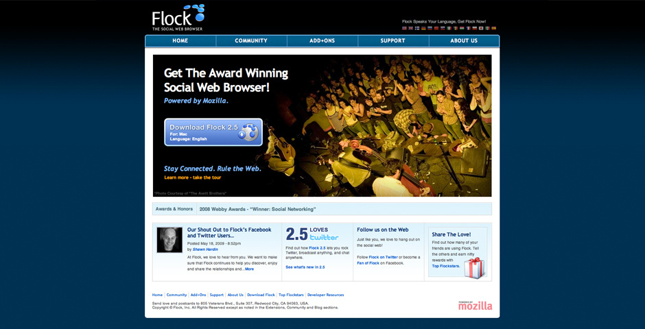 Webby Award Nominee - Flock