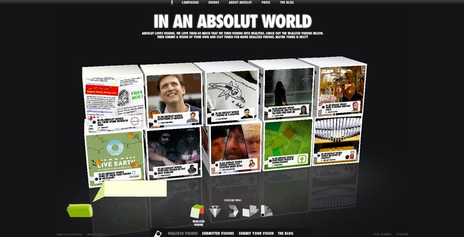 Webby Award Nominee - IN AN ABSOLUT WORLD