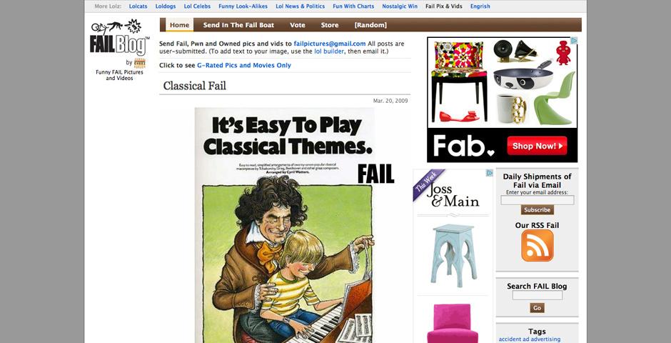 2009 Webby Winner - FAIL Blog