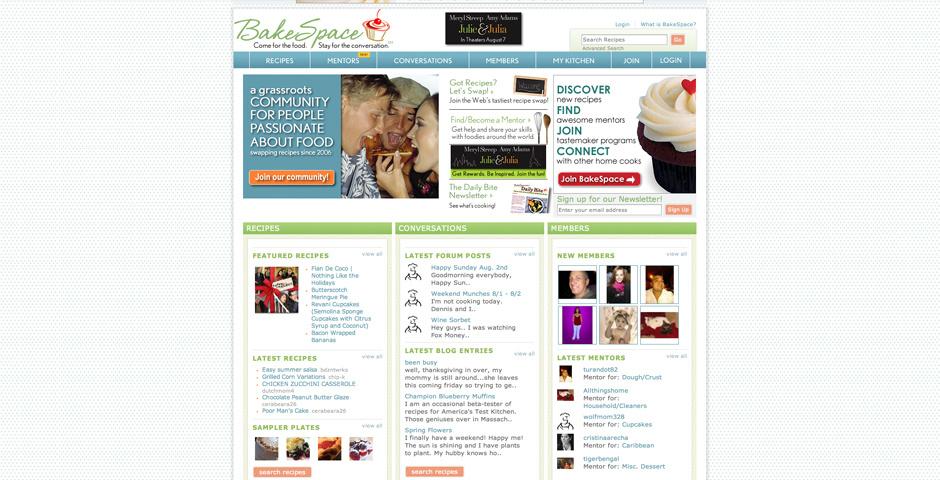 Webby Award Nominee - BakeSpace.com