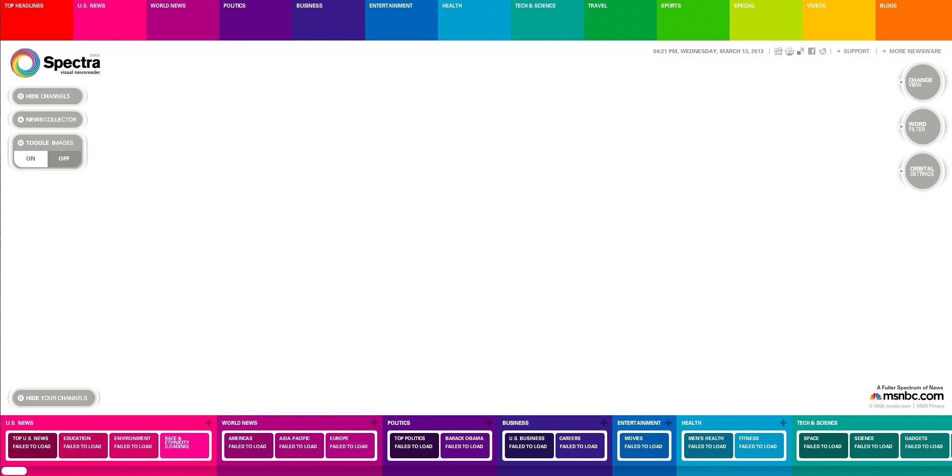 Nominee - Spectra Visual Newsreader | msnbc.com