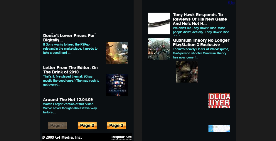 People's Voice - G4TV Iphone Site