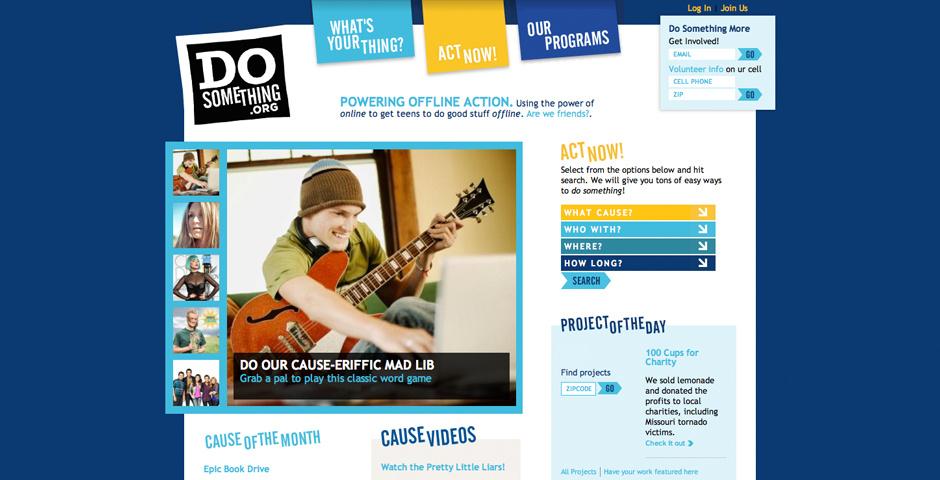 2009 Webby Winner - DoSomething.org