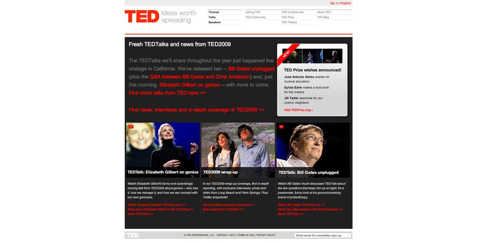 2009 Webby Winner - TED.com