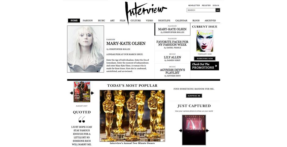 Nominee - Interview Magazine