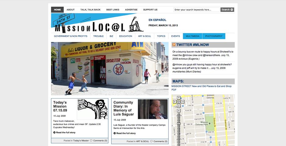 Webby Award Winner - Mission Loc@l