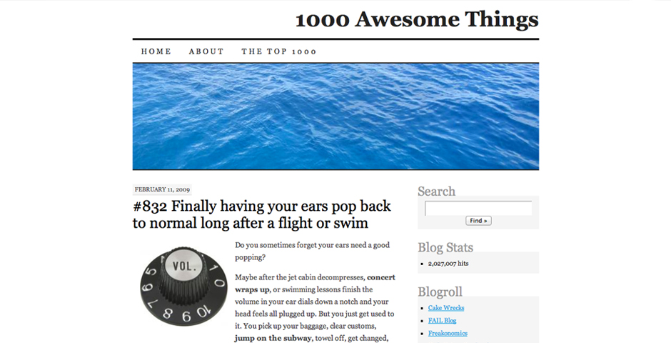 People's Voice / Webby Award Winner - 1000 Awesome Things