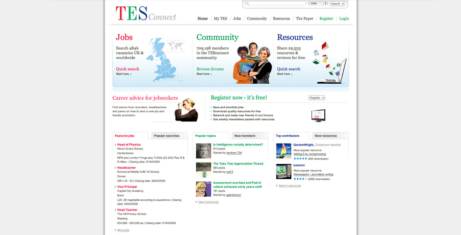 Webby Award Nominee - TES Connect