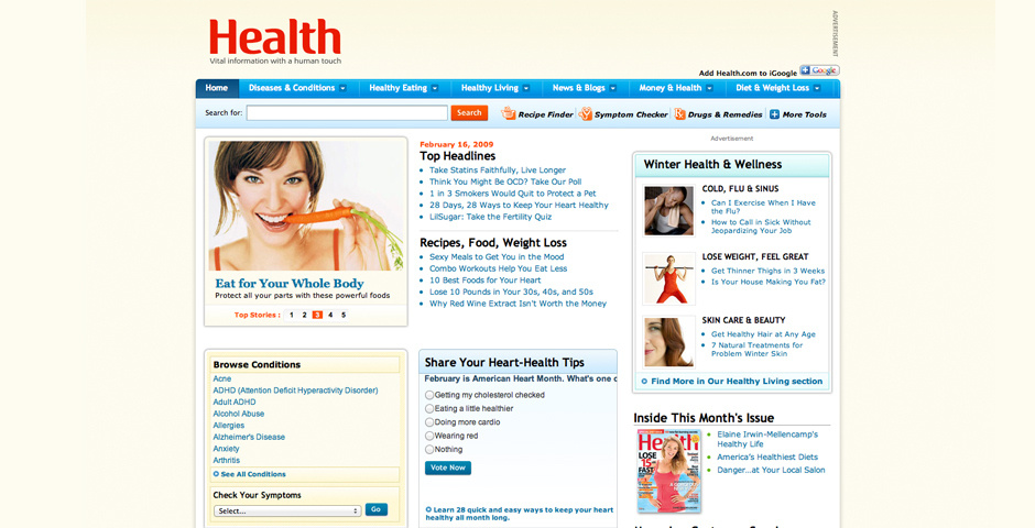 Webby Award Nominee - Health.com