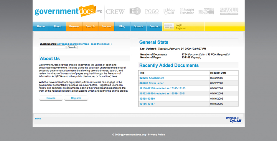 Nominee - Government Docs