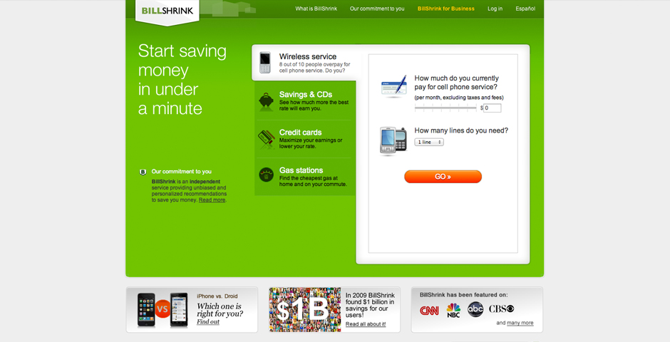 Nominee - BillShrink.com – Best Financial Service Site