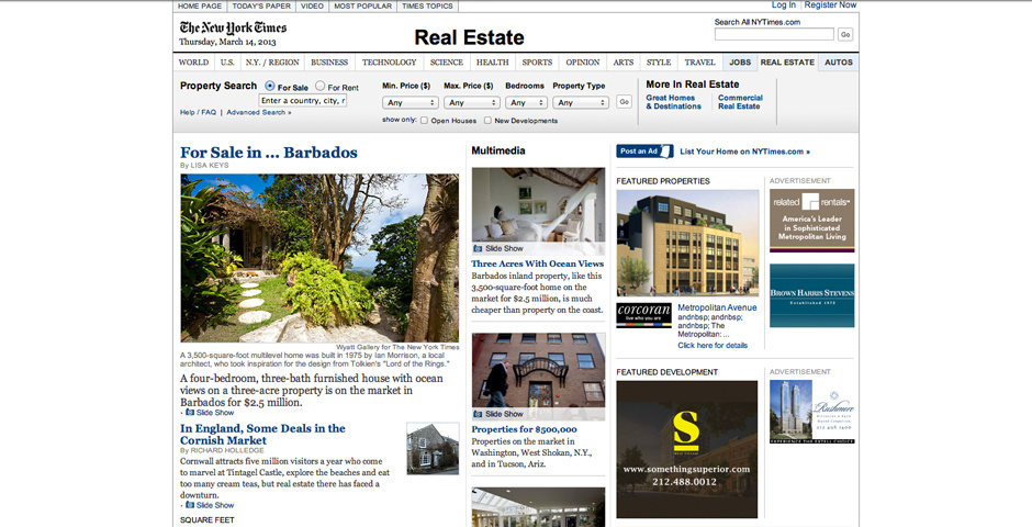Webby Award Nominee - NYTimes.com/RealEstate