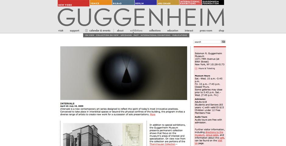 2009 Webby Winner - Guggenheim Museum