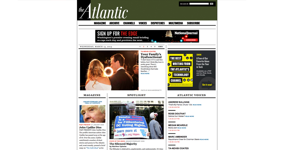 People's Voice / Webby Award Winner - TheAtlantic.com
