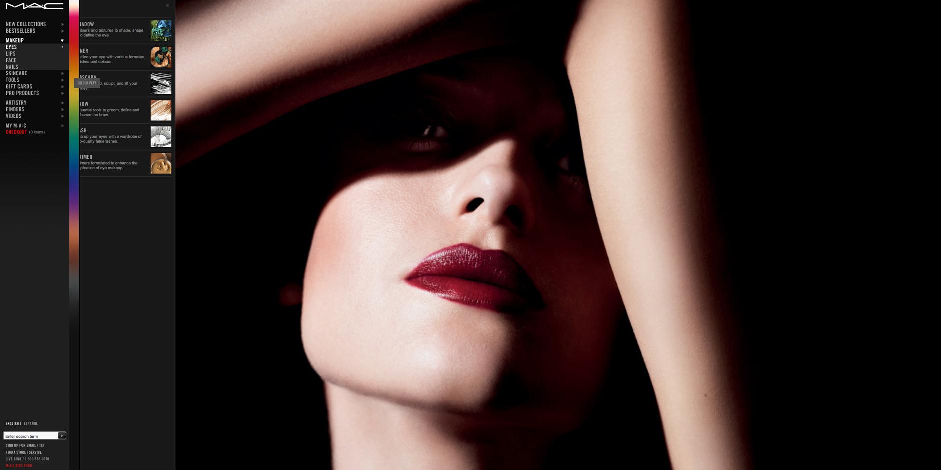 2009 Webby Winner - M·A·C Cosmetics Website
