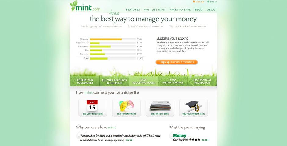 2009 Webby Winner - Mint.com