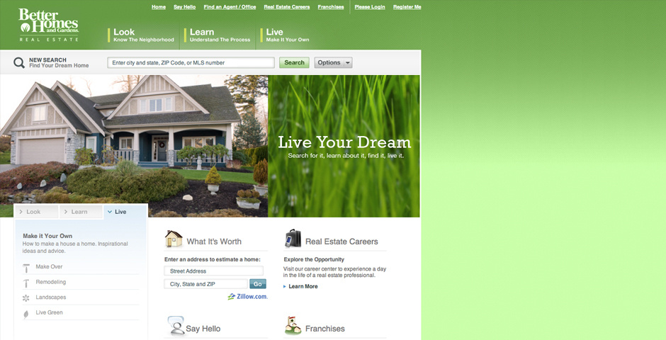 Webby Award Nominee - Better Homes and Gardens Real Estate