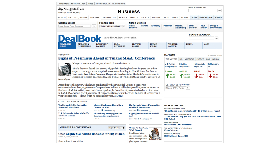 Nominee - NYTimes.com/DealBook