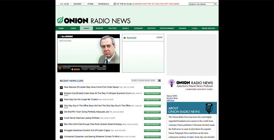 Nominee - Onion Radio News