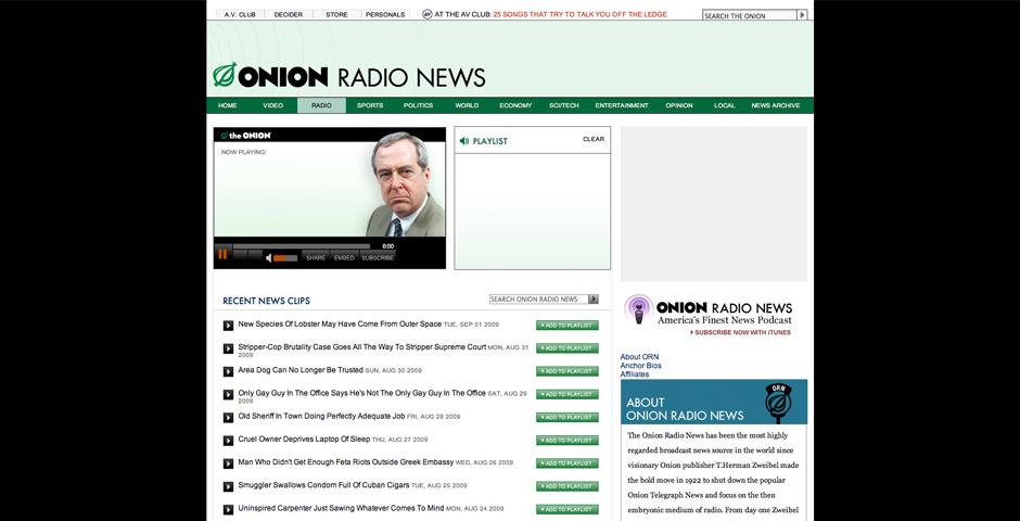 Webby Award Nominee - Onion Radio News