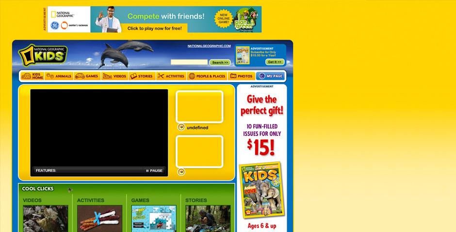Webby Award Nominee - National Geographic Kids