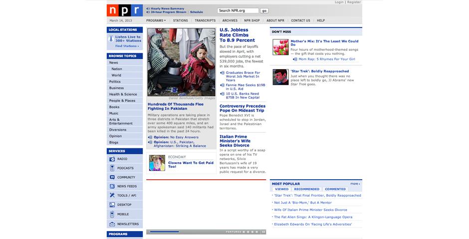 People's Voice / Webby Award Winner - NPR.org