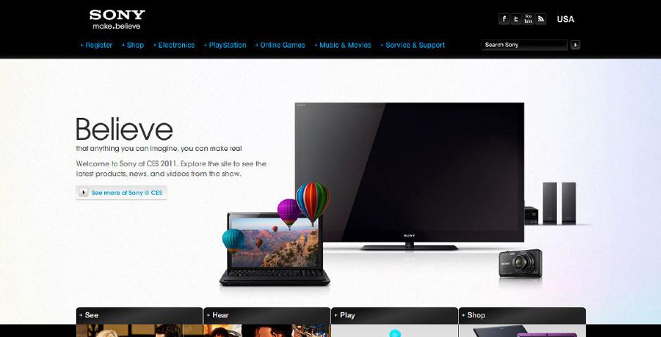 Webby Award Nominee - Sony at CES 2009