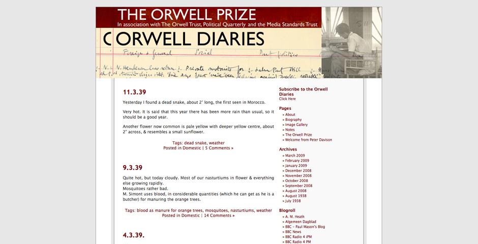 - Orwell Diaries