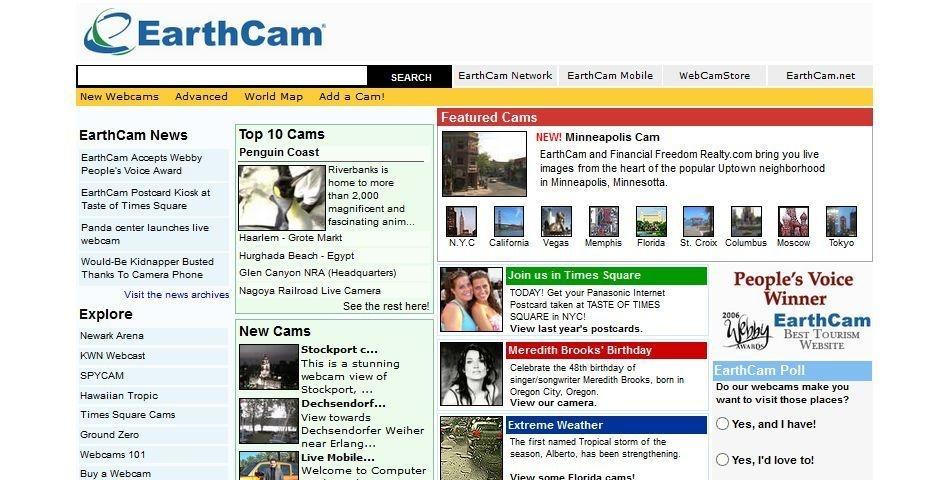 2006 Webby Winner - EarthCam