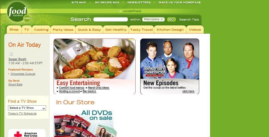 2006 Webby Winner - FoodNetwork.com